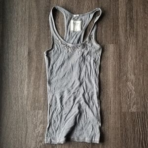 2/$10 Gray Abercrombie and Fitch Tank Top